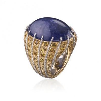 #BUCELLATI #Tanzanite #Cabochon #Diamonds #Ring