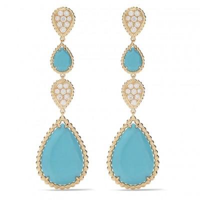 #Boucheron #Diamonds #turquoise #Earrings