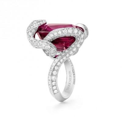 #Boucheron #Ring #Diamants #Rubellite