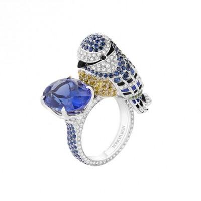 #Boucheron #Ring #Diamonds #Balck sapphires #Blue Sapphires #Yellow Sapphires #Tanzanite