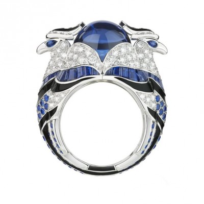 #Boucheron #Ring #Diamonds #Tanzanites #Blue Sapphires