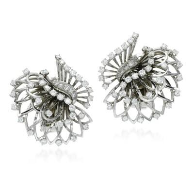 #Boucheron #diamond #diamant #earrings clips #1960s