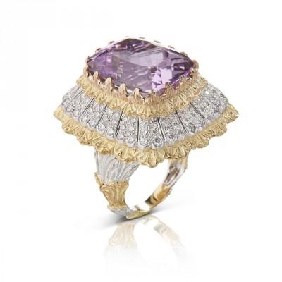 #Buccellati #bague #diamants #Kunzite