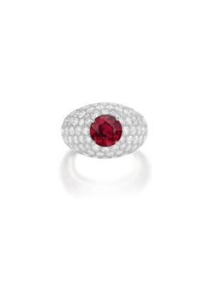 #CARTIER #4ct Ruby #diamonds