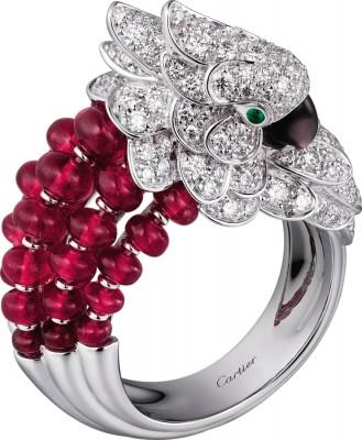 CARTIER #BagueLesOiseauxLibérés #Ring #Diamonds #Rubies #Emeralds