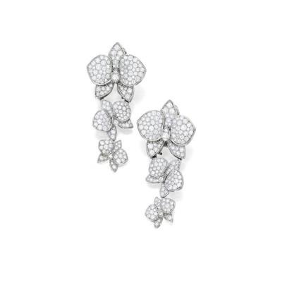 #CARTIER #Pendant-Earclips #diamonds #Caressed'Orchidées