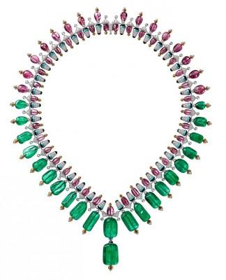 CARTIER #Rubelliie #GernatSpessartite #Turquoises #Onyx #Diamants #Collier