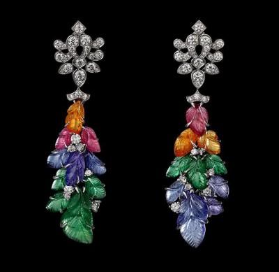 CARTIER-earrings-Platinum-mandarin-garnets-pink-tourmalines-tanzanites-tsavorite-garnets-yellow-diamonds-brilliants