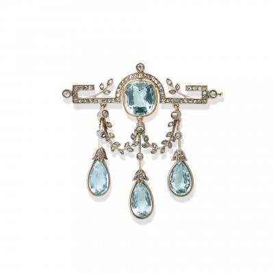 #FABERGE #Carl #Aquamarine #Diamond #Brooch St.Petersburg #1911