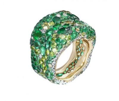 #FABERGE #Emeralds #Tsavorites #Ring