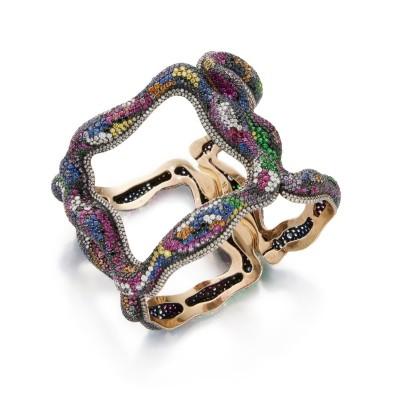 #FABERGE #Gem-Set and Diamond Cuff-Bracelet