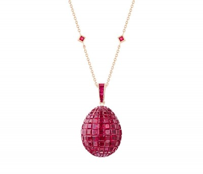 #FABERGE #Mosaic ruby #pendant