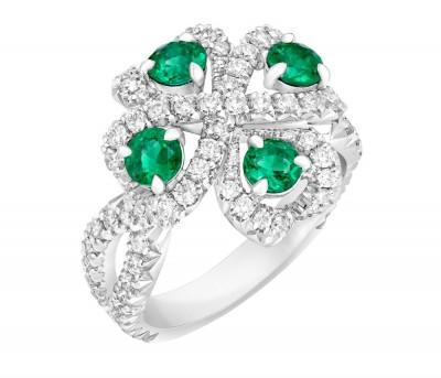 #FABERGE #Ring #emerald #diamond