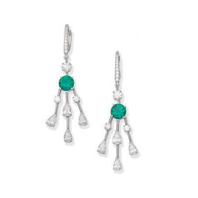 #GRAAF #Diamond #Emerald #Earrings