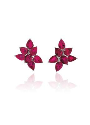 #GRAAF #Diamond #Rubies #'Abstract' Earrings