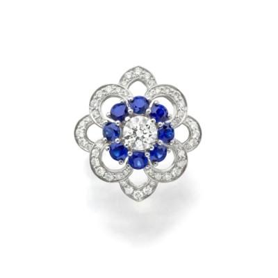 #GRAAF #Diamond #Sapphire #Platinum #Ring #Diamant #Saphir #Platine #Bague