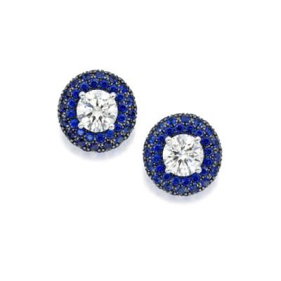 #GRAAF #Diamond #Sapphire #White Gold #Earstuds