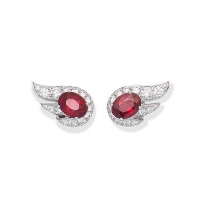 #GRAAF #Diamonds #Rubies #Earrings #'Flame'