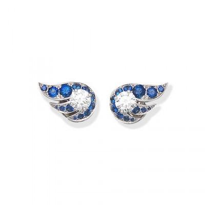 #GRAAF #Diamonds #Sapphires #Earclips #'Flame'