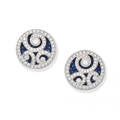 #GRAAF #Diamonds #Sapphires #Earrings