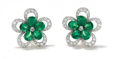 #GRAAF #Emerald #Diamond #Gold #Earrings #Emeraude #Diamant #Or #Boucles d'oreilles