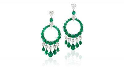#GRAAF #Emerald #Diamond #White Gold #Earrings #Emeraude #Diamant #Or Blanc #boucles d'oreilles