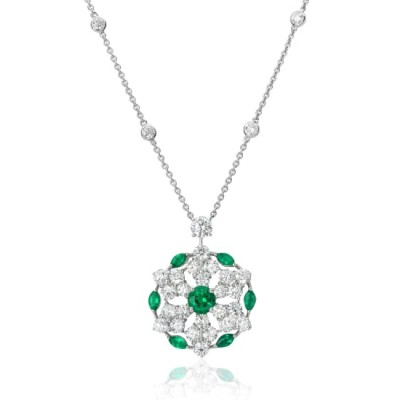 #GRAAF #Emerald #Diamond #White Gold #necklace #Emeraude #diamant #Or Blanc #collier