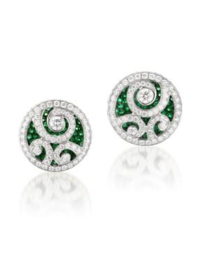 #GRAAF #Emerald and Diamond 'Diamond on Diamond' #Earrings