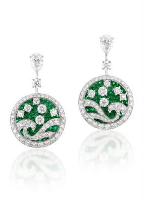 #GRAAF #Emerald and Diamond 'Wave' #Earrings