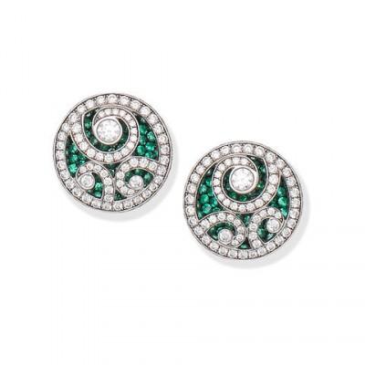 #GRAAF #Emeralds #Diamonds #Earrings
