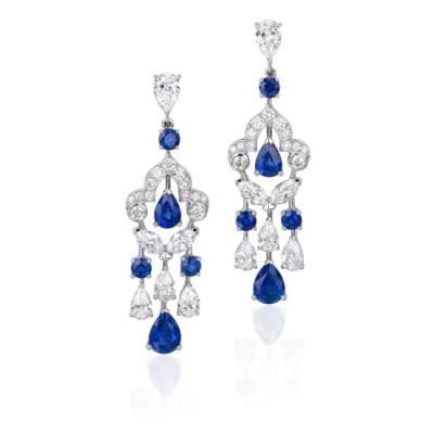 #GRAAF #Sapphire #Diamond #White Gold #Earrings