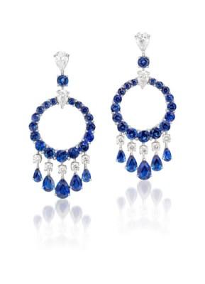 #GRAAF #Sapphire and Diamond 'Mini Gypsy' #Earrings