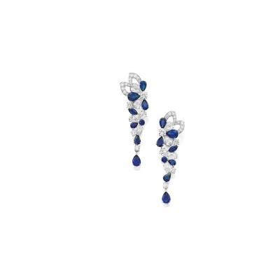 GRAAF-eaarings-saphire-diamond