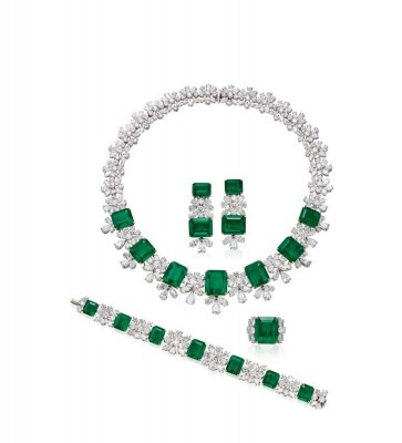 HARRY WINSTON-Colombian Emeralds-SOLD $2,331,115-[POLY AUCTION - Magnificent Jewels - 6 OCT. 2019 - The St. Regis Hong Kong]