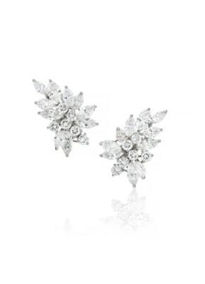 #HARRY WINSTON #Round brilliant-cut diamonds #marquise-cut diamonds #Platinum #Earrings