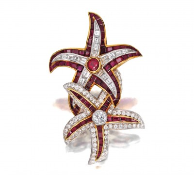 #HARRY WINSTON #Ruby #Diamond #Brooch_1