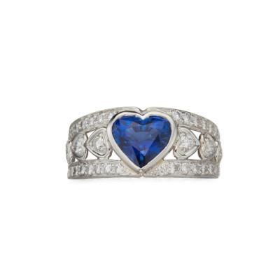 #HARRY WINTSON #Sapphire #Diamond #Ring #saphir #diamant #bague