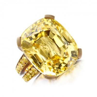 HEMMERLE-yello sapphire 55.35ct-yellow sapphires