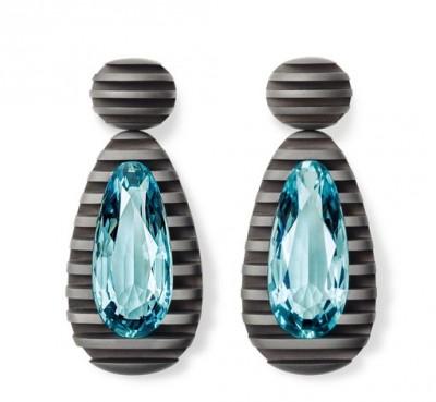 #HEMMERLE #Aquamarine #Earrings