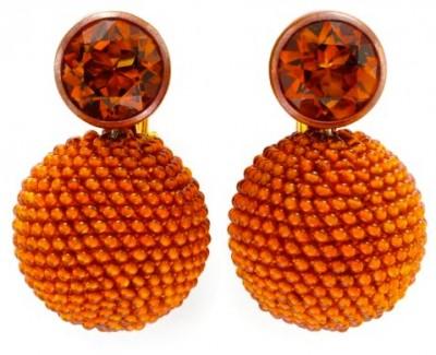 #HEMMERLE #Citrines Madères #Cornalines #Cuivre #Or #boucles d'oreilles #earrings