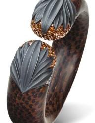 #HEMMERLE #bracelet #Bois de Palmier #Diamants #Argent #Or Blanc