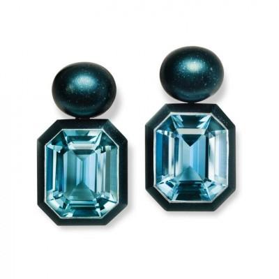 HEMMERLE-earrings-aluminium-aquamarine