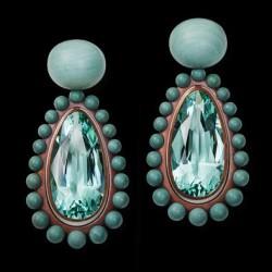 HEMMERLE-earrings-beryls-pebble stones-copper-white gold