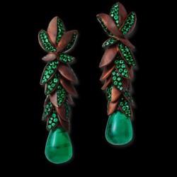 HEMMERLE-earrings-emeralds-copper-white gold