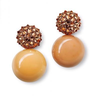 HEMMERLE-earrings-melo peals-garnet-gold-bronz-copper