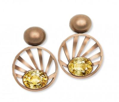 HEMMERLE-earrings-sapphires-bronze-white gold