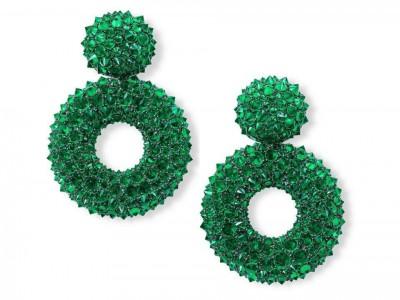HEMMERLE-earrings-sikver-white gold-emeralds