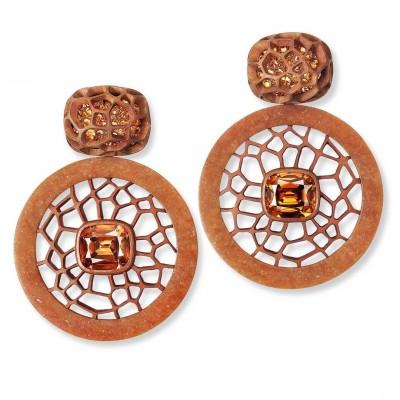#HEMMERLE #orange-jade #earrings