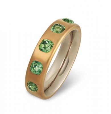 HEMMERLE-ring-tourmalines-brass-white gold