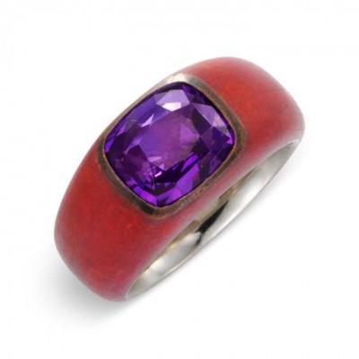 HEMMERLE-ring-white gold-bronze-purple saphire